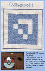 Stitched Pokedex 3D AR Marker