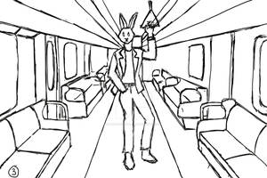 Bunny in the subway