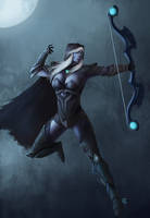 Drow ranger by mykmykmyk