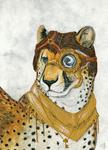 Cheetah ACEO - steampunk Cybre