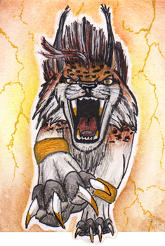 ACEO - Gold storm