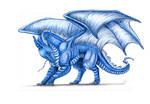 Saphi the blue dragon