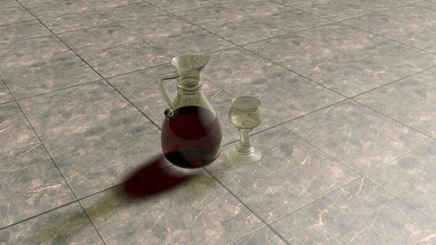 glass and wine