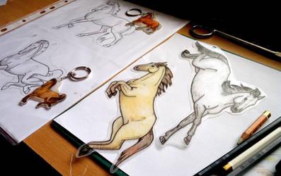 WIP horse keychains