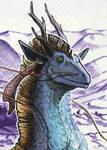 ACEO -Yanlin in Purple Land