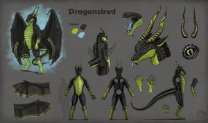 character sheet for Dragonsired
