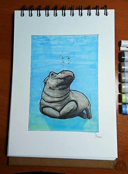 Inktober - 4. underwater