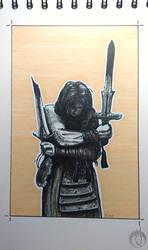 Inktober - 6. sword by MargotShareaza
