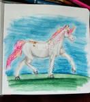 Comm - Mini Watercolor Sketch by RebeccaM-Art