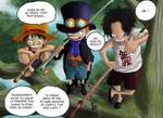 One piece Luffy Ace Sabo by Leackim7891
