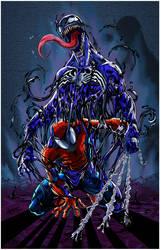 Spiderman et Venom by Leackim7891