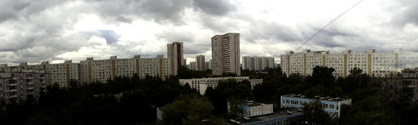Moscow. View from the balcony by Vipra-Ur
