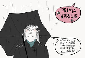Sheet from the calendar: Prima Aprilis