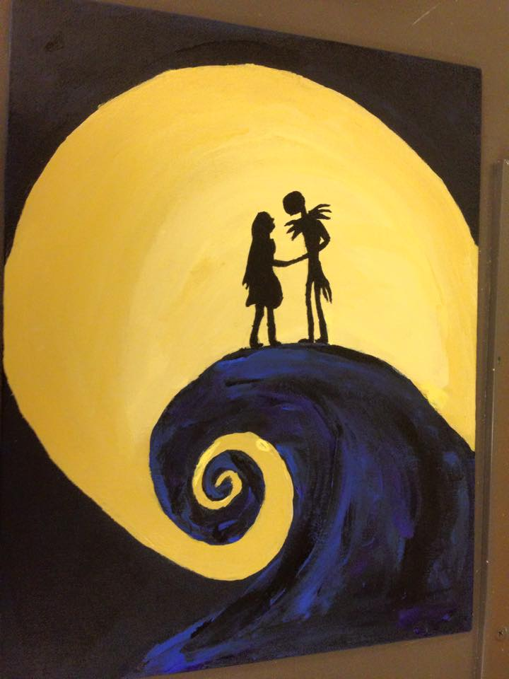 Nightmare Before Christmas Painting I Did By Batoto56