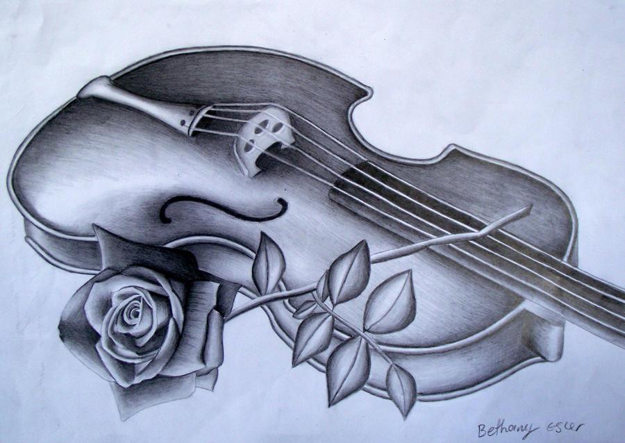 violin rose by Bethany-Grace on DeviantArt