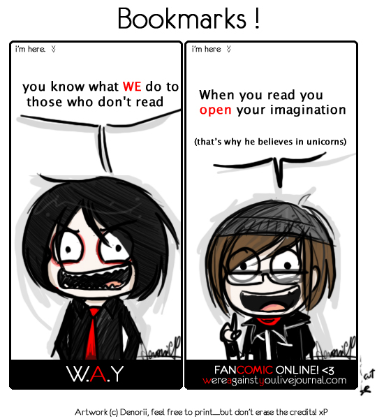 W.A.Y FREE bookmarks by Denorii