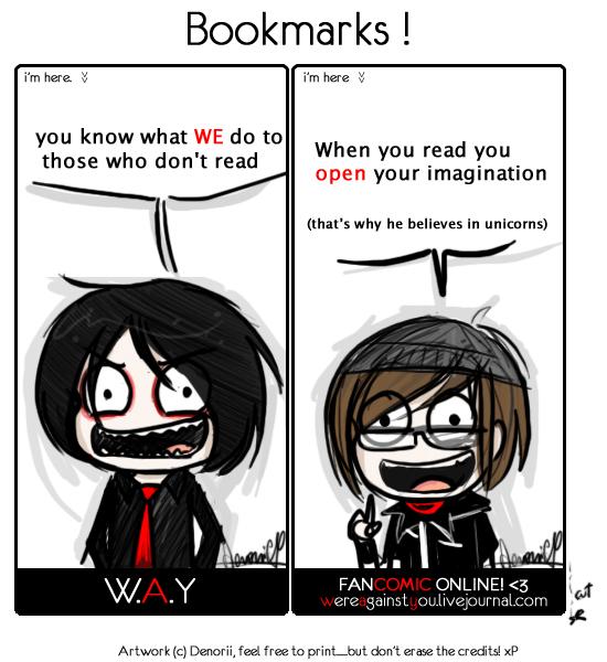 W.A.Y FREE bookmarks by Denorii