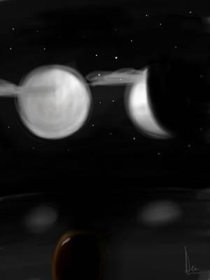 Two Huge Moons