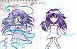 PIC 2: Purple Hair Girl. by Denorii