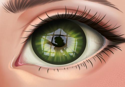 Window to her Soul - ORIGINAL ART