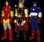 Avengers Big Three Redesigns