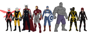 Avengers Redesign (2018) alts