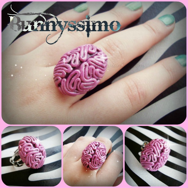 Glitter Brain ring by A-Spark-Of-Light