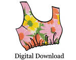PDF Womens Elastic Cropped Tank Top Sewing Pattern by shilohcoral