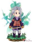 Final Fantasy III - Luneth by ArtofMilee