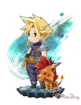 Final Fantasy VII : Cloud Strife and Red XIII
