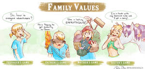 Legend of Zelda Breath of the Wild Family Values by Milee-Design