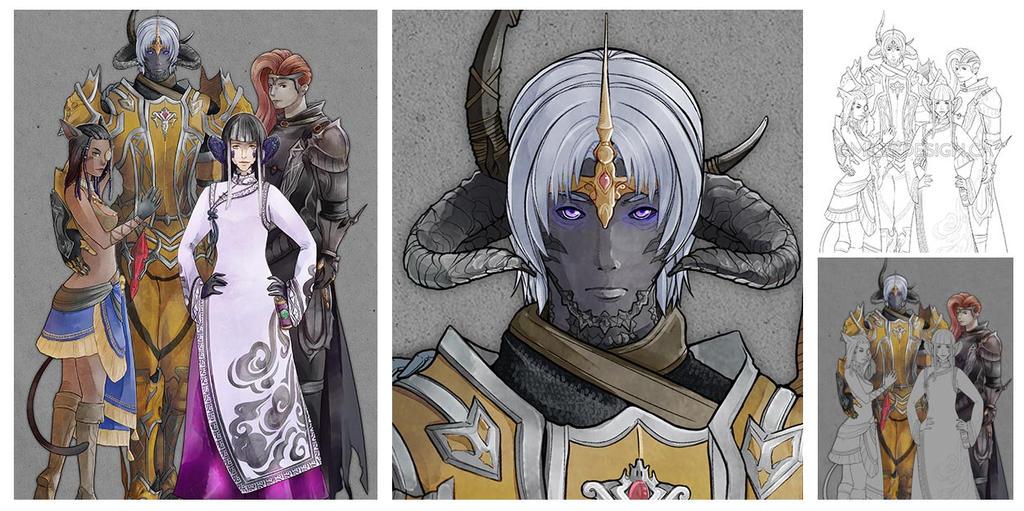 Final Fantasy XIV Quatuor by Milee-Design