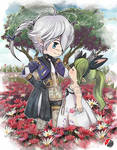 FFXIV Alphinaud and Lalafell