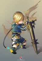 Final Fantasy XIV : Lalafell Dark Knight by Milee-Design