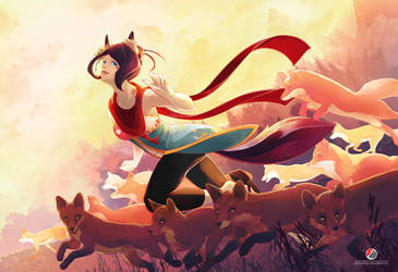 Kiku : Running with the foxes by Milee-Design