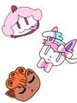 Pokemon head sketches