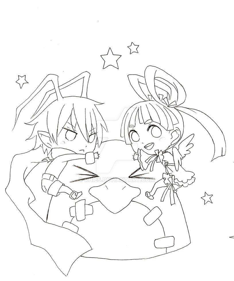 Hugging the Prinny! by Rhies