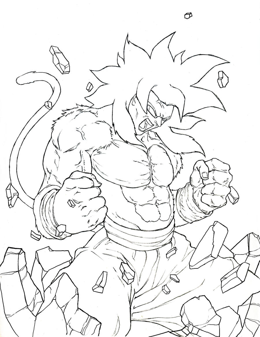 goku super saiyan 1 coloring pages - ss goku 4 by venomaxxx on deviantart