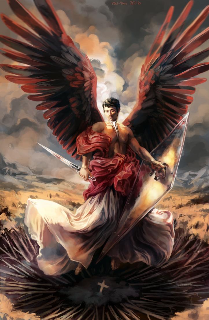 Supernatural: Angelic Castiel by rou-tan