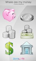 Where Are My Money Icon Set