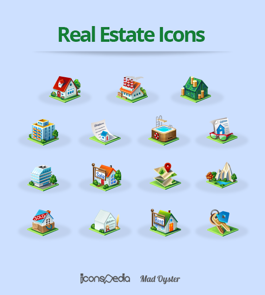 Real Estate Icons by iconspedia