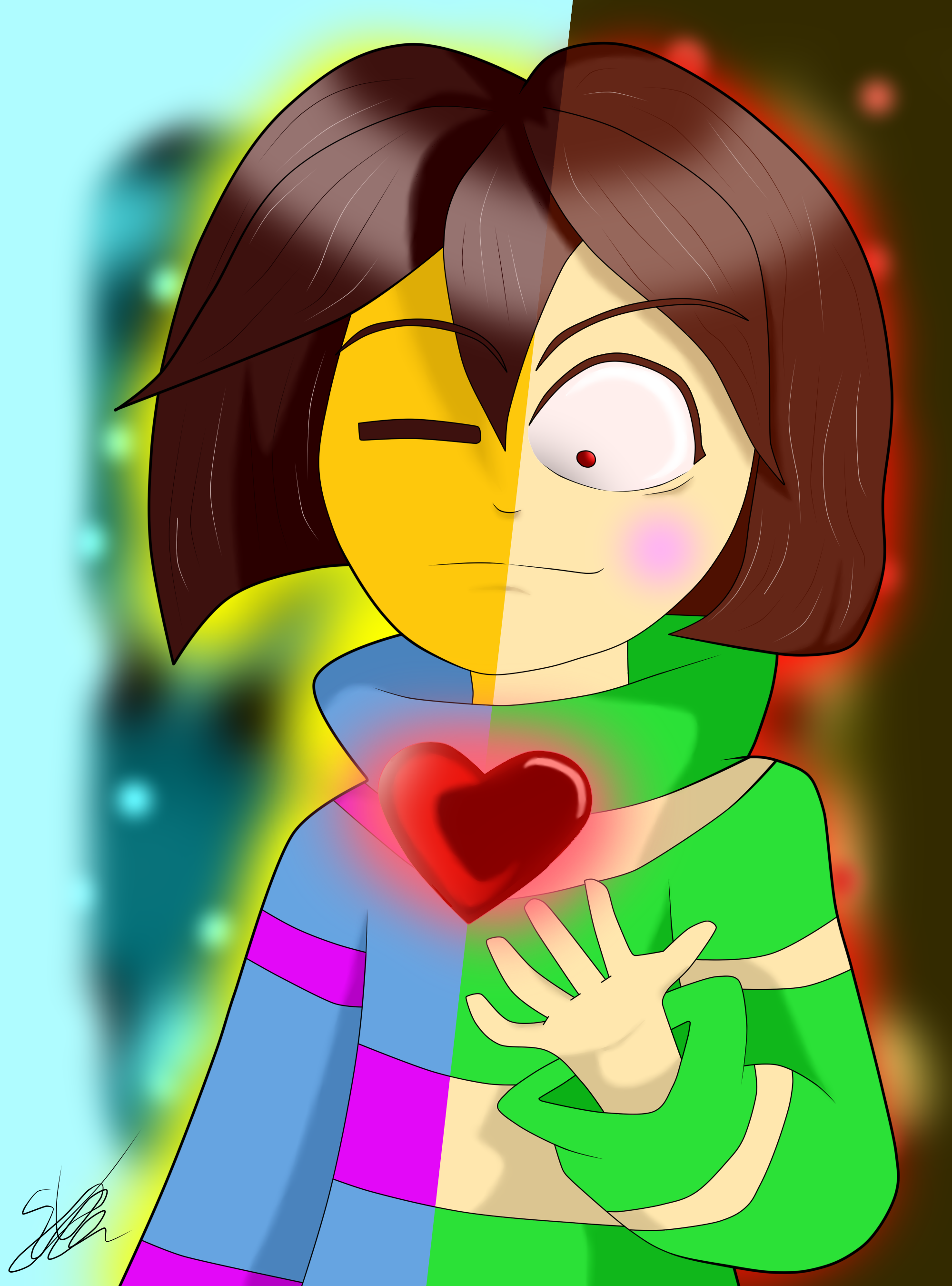 [UNDERTALE] Frisk And Chara by Seb-LK-585