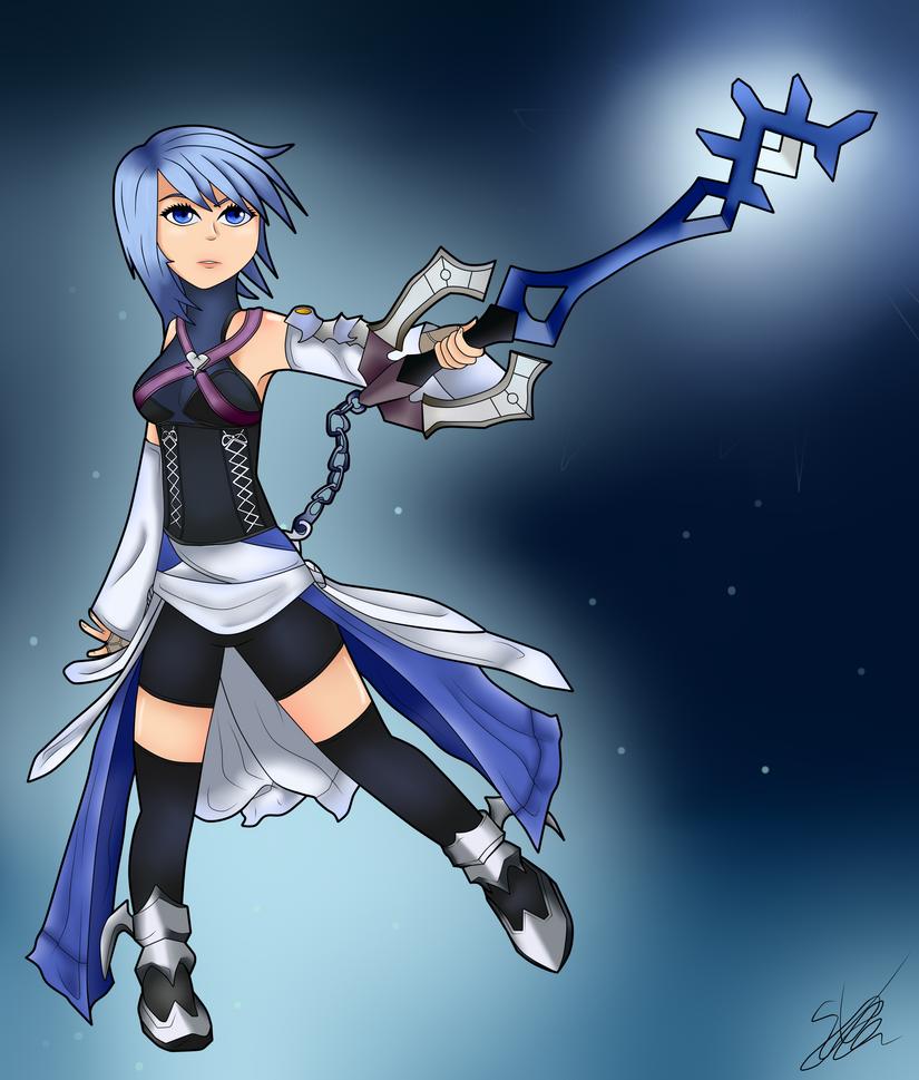 [GAME ART] Aqua Kingdom Hearts Birth By Sleep by Seb-LK-585