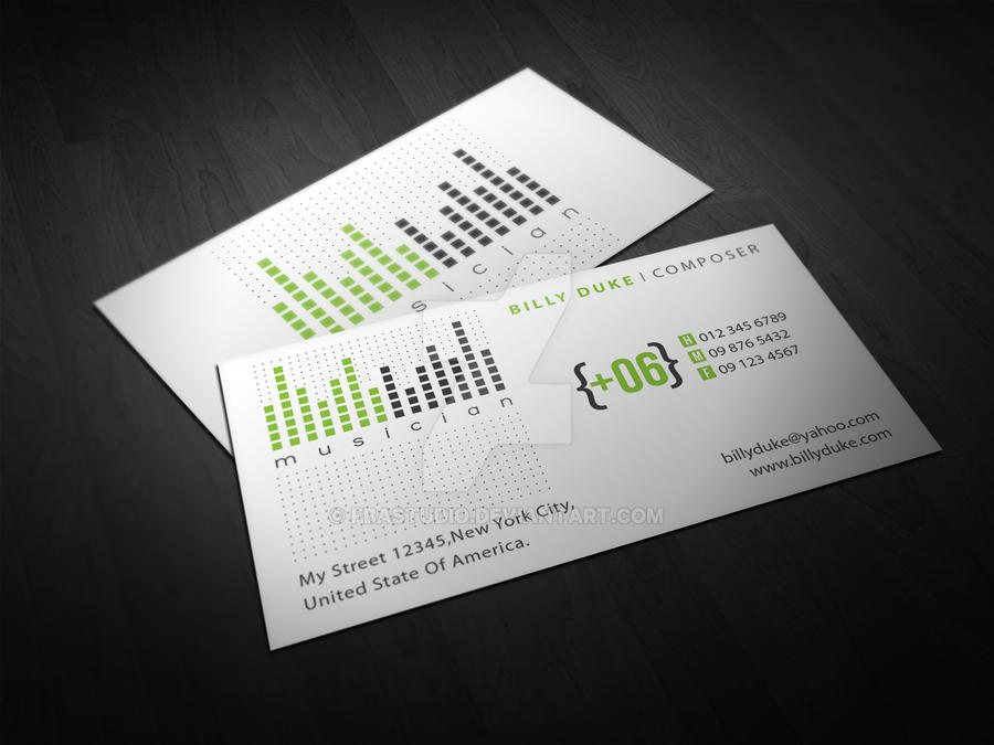 Composer Business Card by FBAstudio on DeviantArt