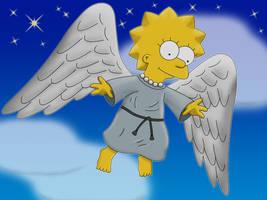 Winged Lisa at Night by Paddixx