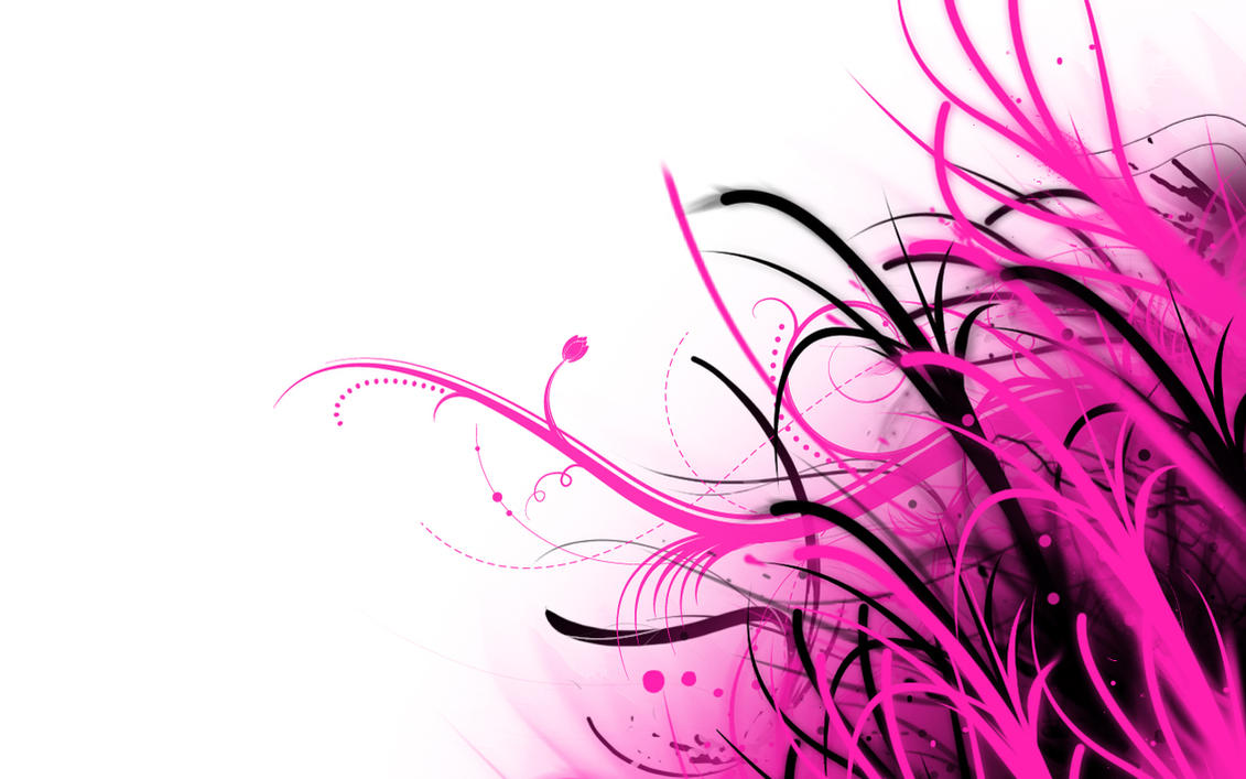 Abstract Wallpaper Pink And White By PhoenixRising23