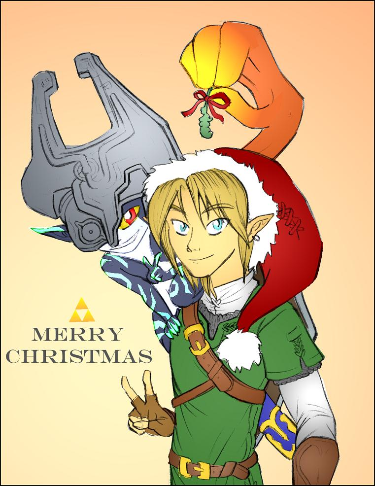Link and Midna at Christmas by felegund on DeviantArt