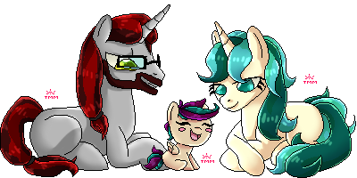 Pone-Doll - KaleidoCrescendo - Family of three by Two-Mind-Monster