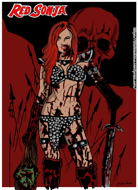 Red Sonja (color) by EttoBascianoWorks