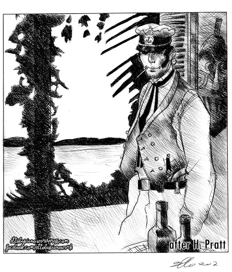 Corto Maltese (After Hugo Pratt) by EttoBascianoWorks
